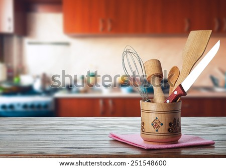 Cutlery in the kitchen - stock photo