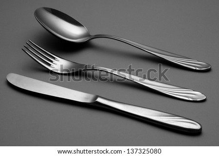 Cutlery set - stock photo