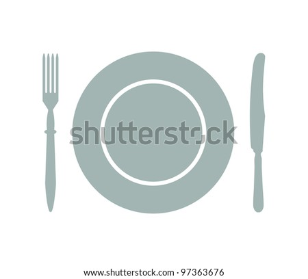 Cutlery silhouette icon