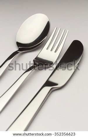 Cutlery. Silver fork and spoon.