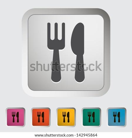 Cutlery single icon. Vector version also available in my portfolio. - stock photo
