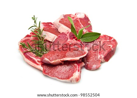 cutlet of lamb - stock photo