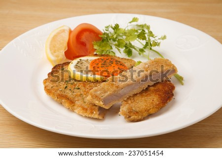 Cutlet of veal - stock photo
