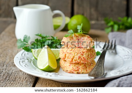 Cutlets of crab meat