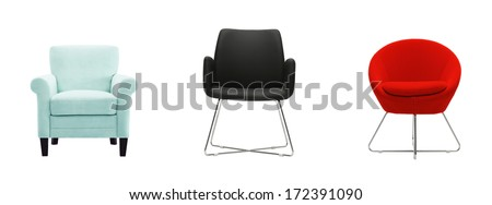 cutout chair composition  - stock photo