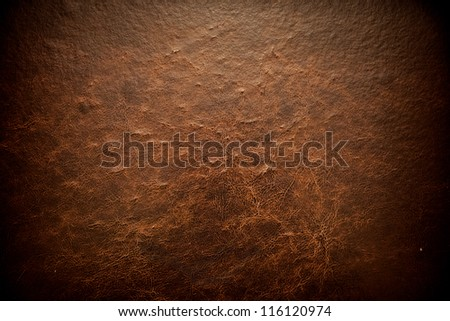 cuts in leather texture - stock photo
