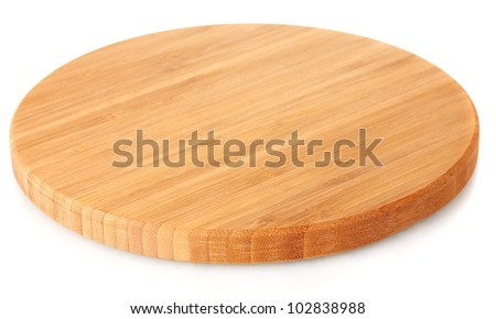 cutting board isolated on white - stock photo