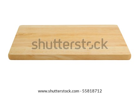 Cutting board isolated on white background.