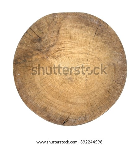 cutting board isolated on white background - clipping path. - stock photo