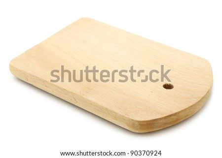 Cutting board on a white background - stock photo