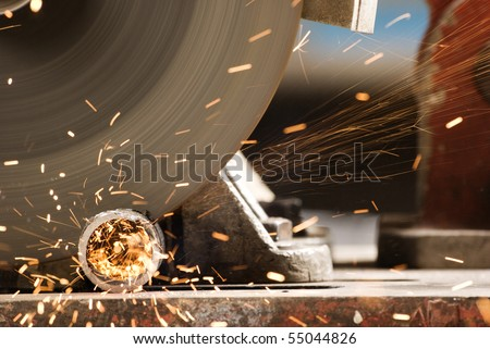 cutting metal - stock photo