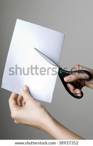 Cutting Paper - stock photo