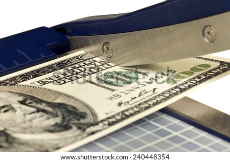 Cutting The Costs/ Inflation Comes Back - stock photo