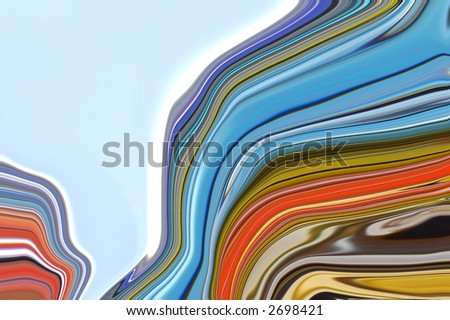 Cutting Through the Current - stock photo