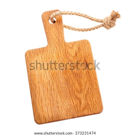 Cutting wooden board  isolated on white background - stock photo