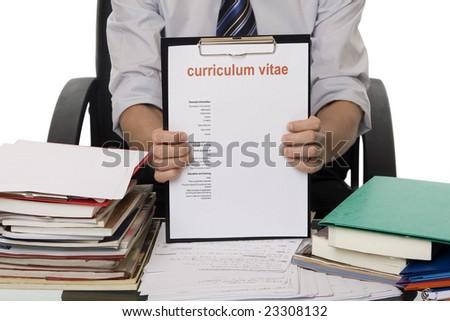 CV for application job - stock photo