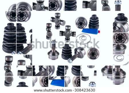 CV Joints. Constant Velocity Joints. Part wheel of the car - stock photo