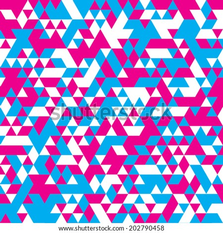 Cyan and magenta triangular poster background