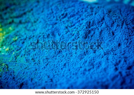 Cyan colour toner for printer  - stock photo