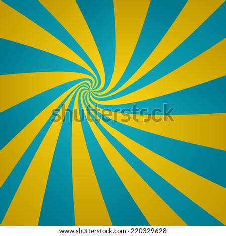 Cyan golden twirl background - jpeg version  - stock photo