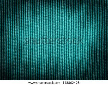 cyan grunge fabric background - stock photo
