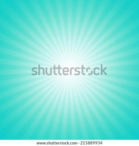 Cyan starburst effect background - stock photo
