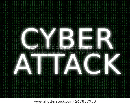 cyber attack alert - stock photo