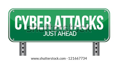 cyber attacks as a technology concept illustration design - stock photo