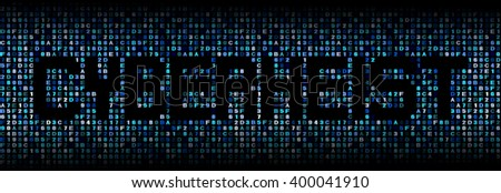 Cyber Heist text on hex code illustration - stock photo