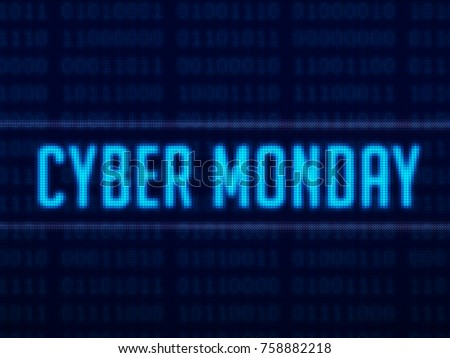 Cyber Monday text on digital background 3D render