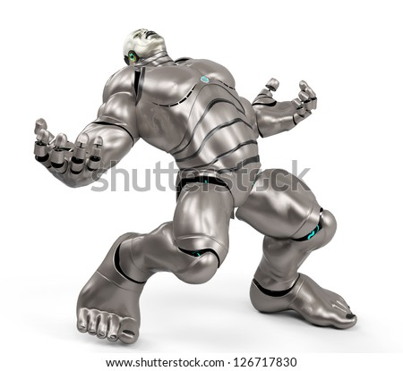 cyber monster - stock photo