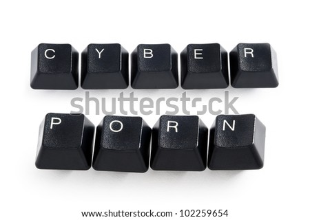 cyber porn - stock photo