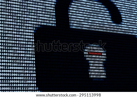 Cyber Protection Lock and Password. A concept of network security in digital world - stock photo