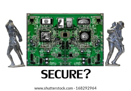 Cyber Security are YOU Secure Online? - stock photo