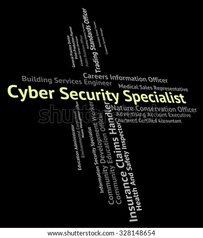 Cyber Security Specialist Representing World Wide Web And Skilled Person - stock photo