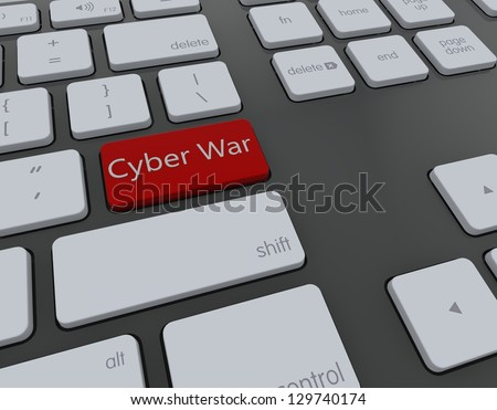 Cyber war 3d keyboard