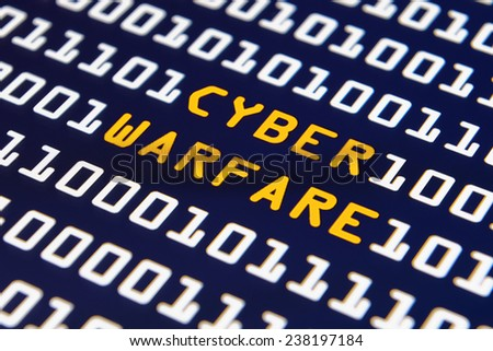 Cyber warfare - Internet hacking - stock photo