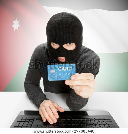 Cybercrime concept with flag - Jordan