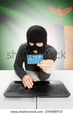 Cybercrime concept with flag on background - Zambia