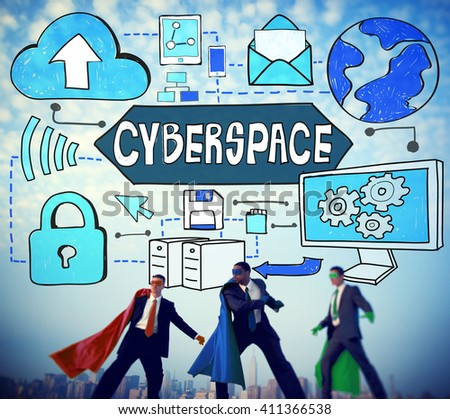Cyberspace Technology Cyber Online Virtual Reality Concept - stock photo