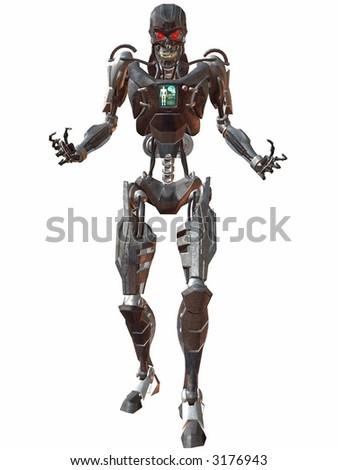 Cyborg 3000-Menace - stock photo