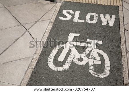 Cycle Lane in Urban Setting