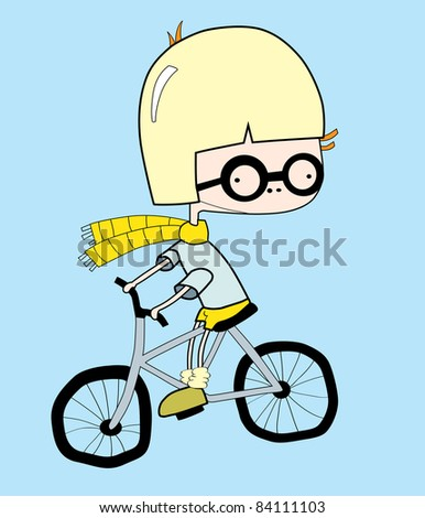 cycle race, raster version - stock photo