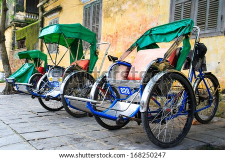 Cycle rickshaw( Cyclo ) in Hoi An, Vietnam