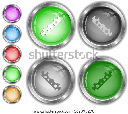 Cycle spanner. Raster internet buttons.  - stock photo