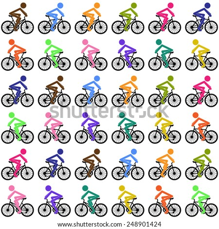 Cycling background - stock photo
