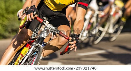 cycling competition - stock photo