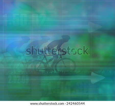 Cycling Design, dark Background  - stock photo