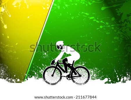 Cycling invitation poster, flyer other advert background with empty space - stock photo