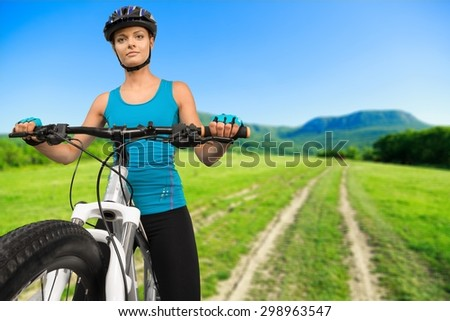 Cycling, Mountain Bike, Isolated.